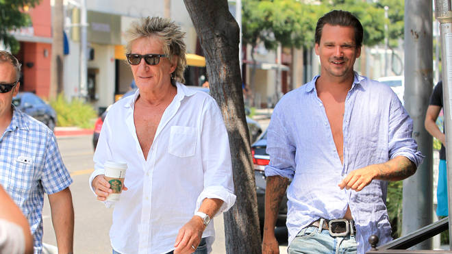 Rod Stewart and his son Sean
