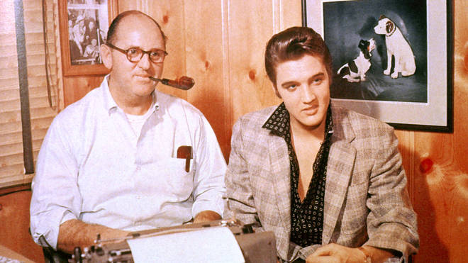 Colonel Tom Parker and Elvis Presley in 1956