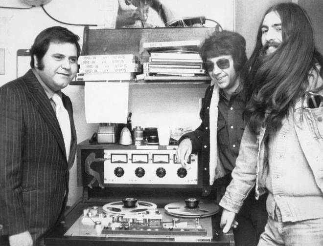 George Harrison listens to the tape of his album 'All Things Must Past'