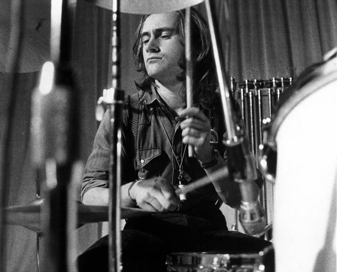 Phil Collins playing the drums in the early '70s