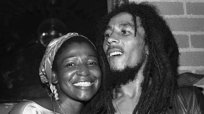 Bob Marley and Rita Marley in 1978