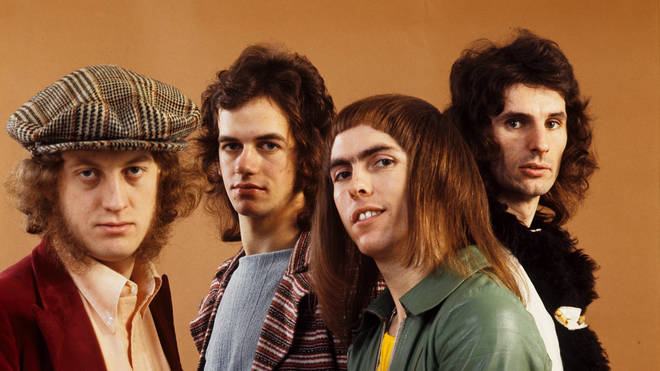 Slade (L-R: Noddy Holder, Jim Lea, Dave Hill, Don Powell)