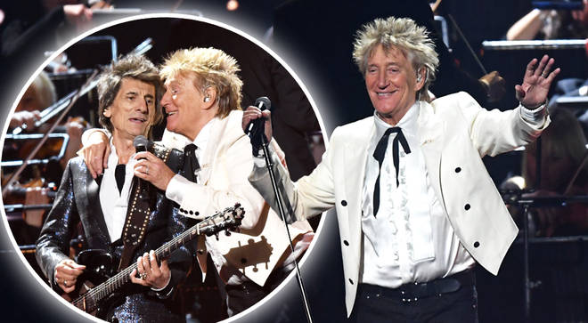 Rod Stewart reunited with Faces' members Ronnie Wood and Kenney Jones
