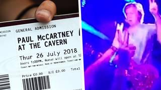 Paul McCartney at the Cavern Club