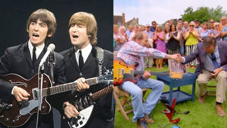 A guitar owned by Lennon and Harrison has fetched a huge value on Antiques Roadshow