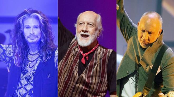 Steven Tyler, Mick Fleetwood and Pete Townshend
