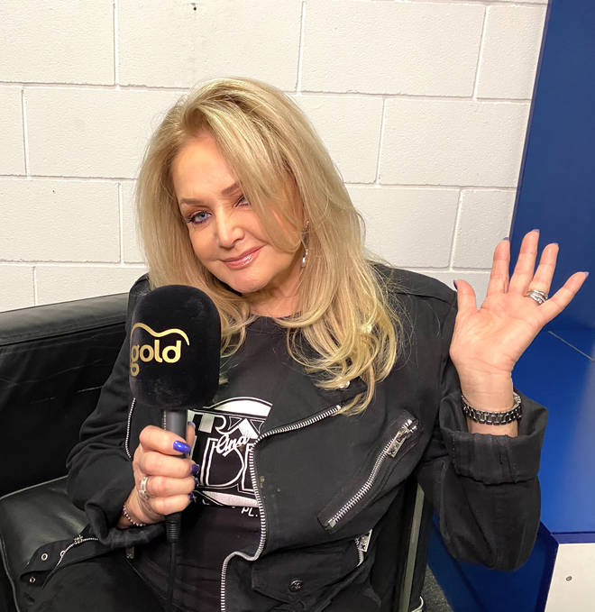 Bonnie Tyler speaking to Gold Radio backstage at The O2 Arena