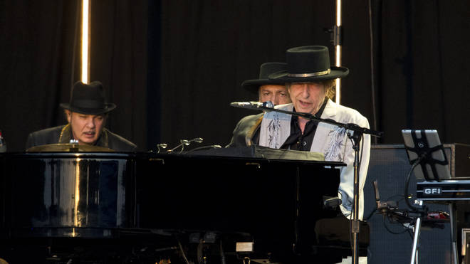 Bob Dylan performing at BST 2019