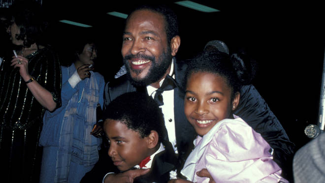 Marvin Gaye with children Frankie and Nona