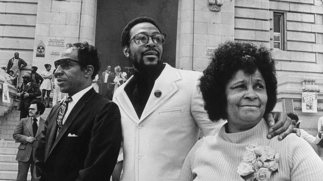 Marvin Gaye and his parents
