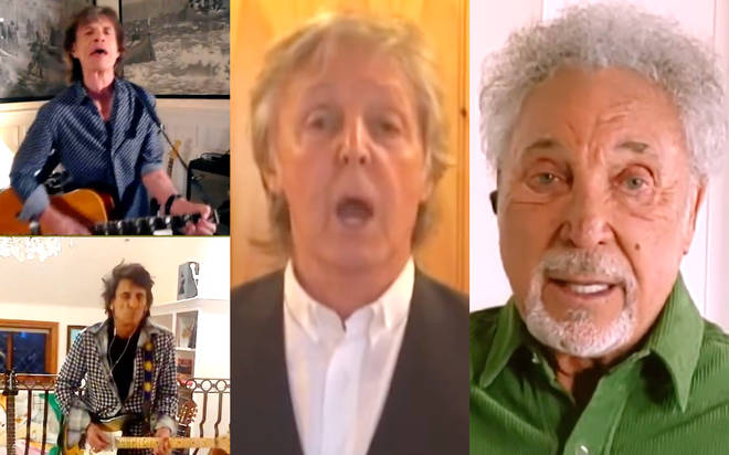 One World: The Rolling Stones, Sir Paul McCartney and Sir Tom Jones all took part