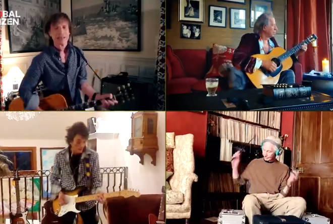 The Rolling Stones performing together online