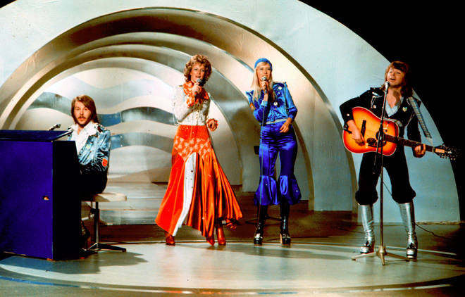 ABBA taking part in Eurovision 1974