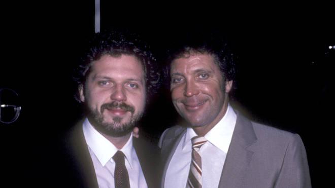 Tom Jones and son Mark in 1985