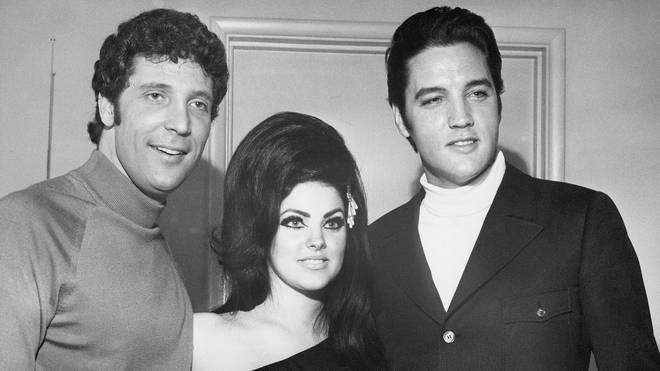 Elvis and Priscilla Presley with Tom Jones