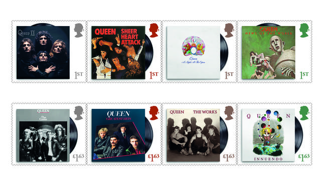 The band will be honoured with 13 stamps featuring their album artwork and rare live performance pictures