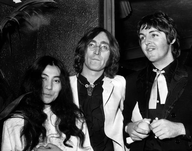 Paul Mccartney, John Lennon And Yoko Ono pictured in London, July 1968
