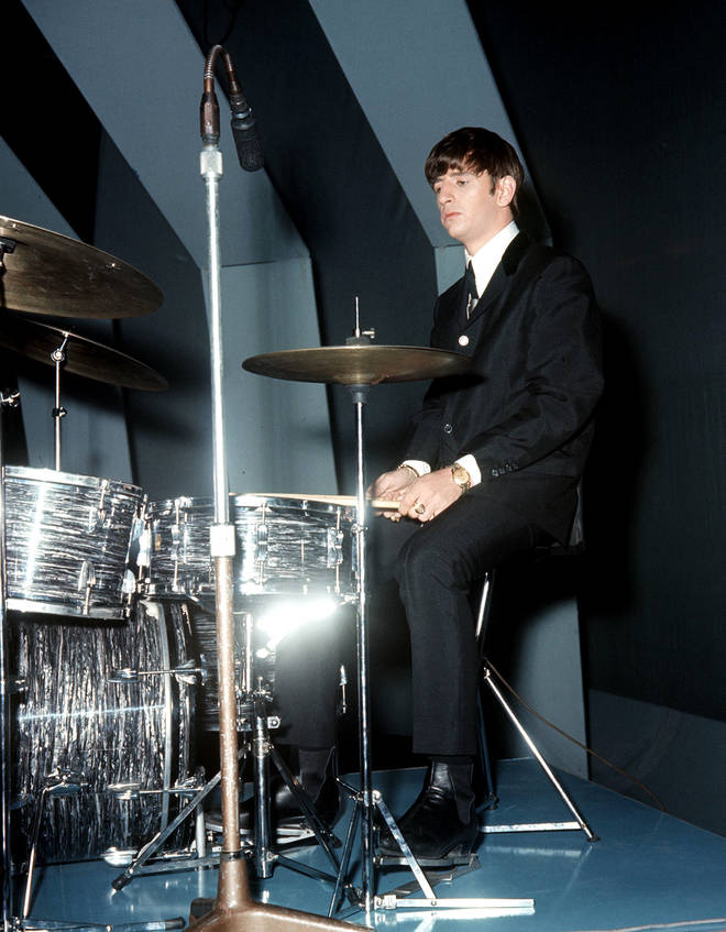 Ringo Starr performing as part of The Beatles