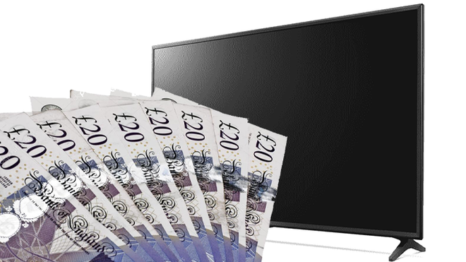 TV and cash prize