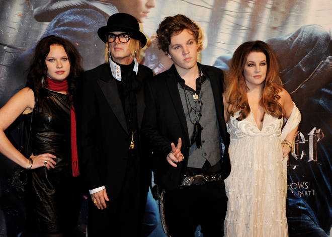 Lisa Marie Presley, right, pictured with son Benjamin Keough, second right, in 2010.