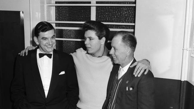 Cliff Richard and his father (right) in 1959