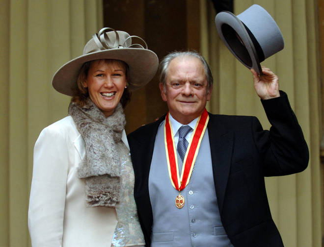 David Jason after collecting his knighthood