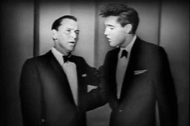 Elvis was 25-year-old when he appeared on the TV special alongside Frank Sinatra