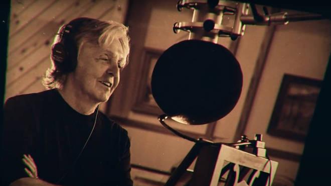 Paul McCartney recording his new album McCartney III
