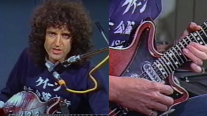 Filmed in 1983, the tutorial shows the Queen guitarist demonstrating the technical and practical ways to achieve the famous 'Bohemian Rhapsody' solo as the camera zooms in on his acoustic set.
