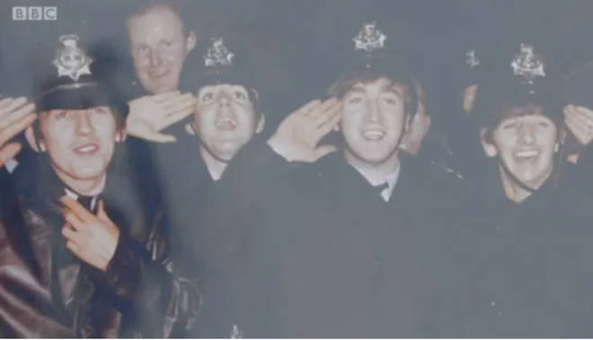 The Beatles disguised themselves as police officers in 1963 at Birmingham Hippodrome.