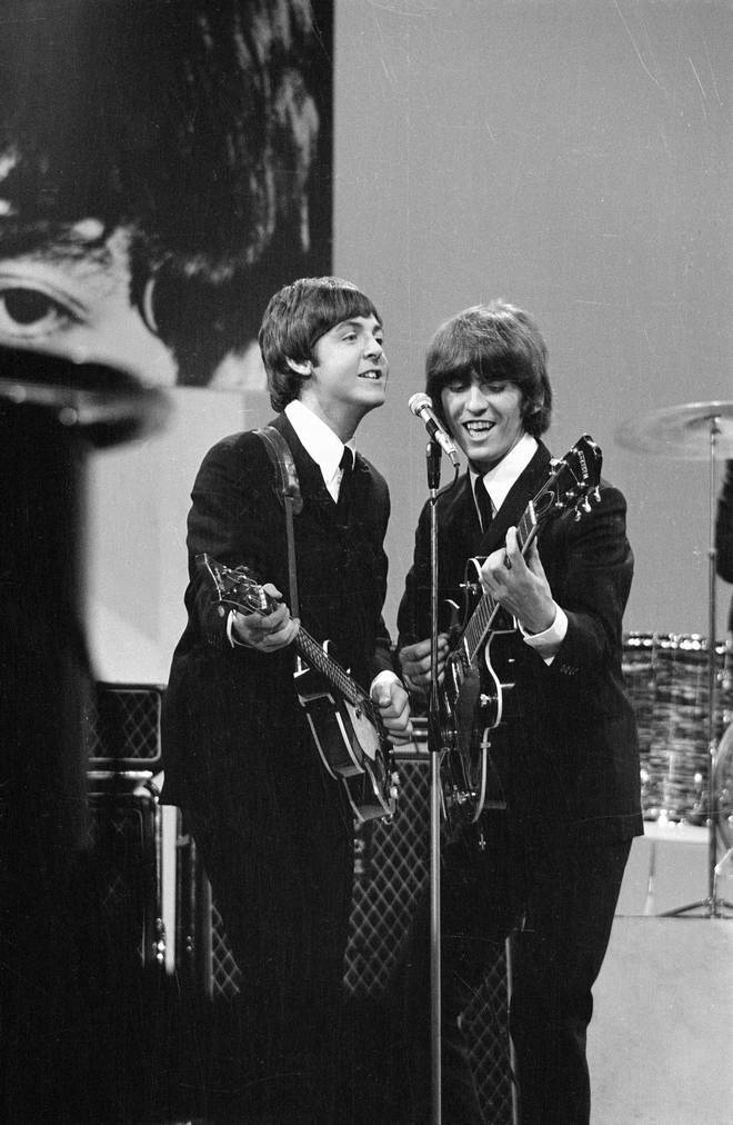 Paul McCartney recently said in an interview on NPR's All Things Considered that he likes to communicate with George Harrison through a large coniferous tree the Beatle gave him before his death. Pictured, Paul and George in 1965.