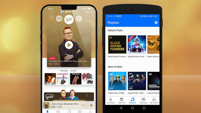 How to listen to Gold via Global Player mobile app