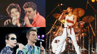 The Freddie Mercury Tribute concert saw the George Michael and Lisa Stansfield (top) join stars including David Bowie and Annie Lennox in celebrating the life of the Queen frontman.