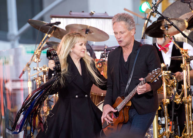 """Stevie Nicks and Lindsey Buckingham perform on NBC&squot;s """"Today"""" at the NBC&squot;s TODAY Show on October 9, 2014"""