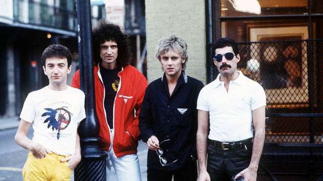 Queen pictured in 1981, the year of their recording sessions with Bowie