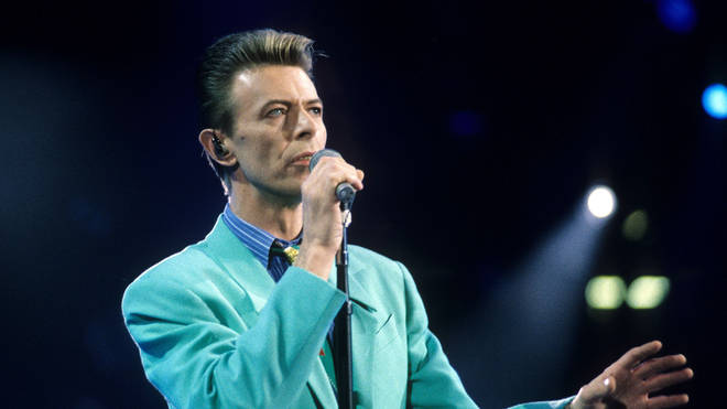 David Bowie performing at the Freddie Mercury Tribute