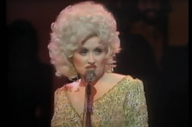 Dolly Parton did a perfect impersonation of Elvis Presley's lip curl (pictured)