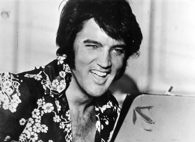 Dolly Parton performed a brilliant cover of Elvis Presley's 1957 hit, 'All Shook Up'. Pictured, The King in 1975.