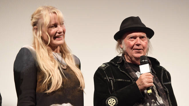 Neil Young and Daryl Hannah in March 2018