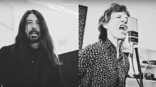 Mick Jagger and Dave Grohl in their latest music video