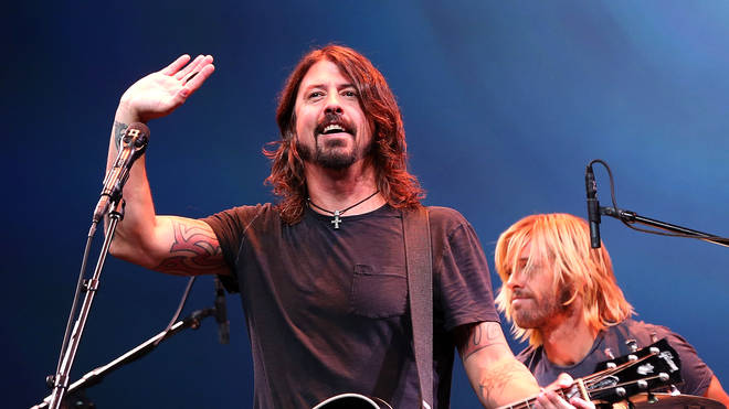 Dave Grohl Performing with the Foo Fighters in 2012