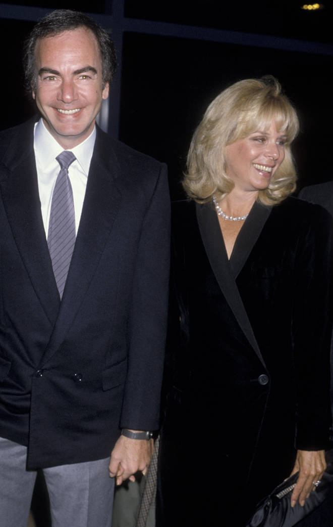 Neil Diamond and second wife Marcia in 1986