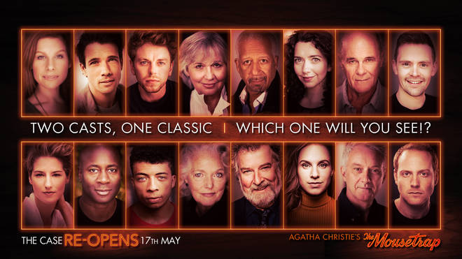 Two sets of casts – comprising Olivier Award winners and highly acclaimed stars of TV and film – will come together for the iconic thriller when it reopens on May 17.