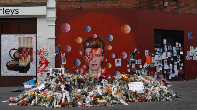 David Bowie Tribute Grows At Brixton Mural Two Weeks After Death