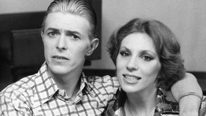 David Bowie and Angie in 1976