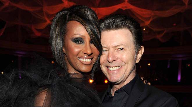 David Bowie with wife Iman in 2009