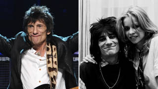 Ronnie Wood and his ex-wife Jo Wood