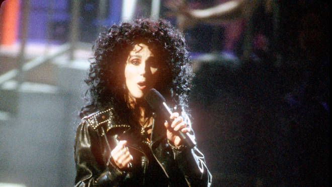 Cher in the 'If I Could Turn Back Time' video