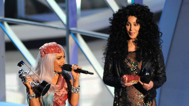 Cher and Lady Gaga at the 2010 MTV Video Music Awards