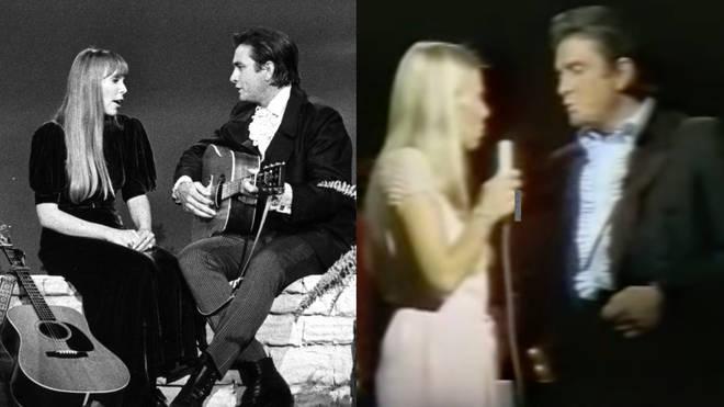 Joni Mitchell and Johnny Cash